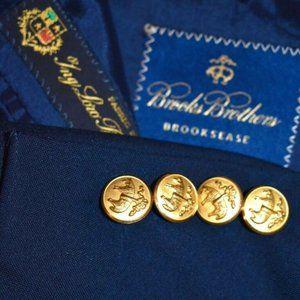 42R Brooks Brothers LORO PIANA Gold Button blazer